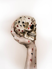A Poor Hand (Raggedjack1) Tags: cards hearts badluck clubs lefthand poorhand skull gambling spades diamonds luck gamble playingcards wrist loser poordeal