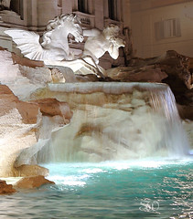 Trevi fountain 4 (itsabreeze) Tags: trevifountain rome italy europe sculpture art fountain night horse wingedhorse lit historical architecture roman