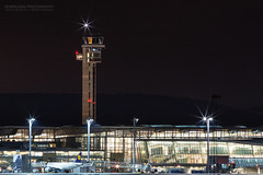 Night at Oslo Airport (Normann Photography) Tags: airportlights akershus flyplass gardermoen osl oslolufthavngardermoenosl airport longexposure travel norge no vacation flight airplane aircraft