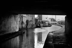 Hiding in the shadows. (padge83) Tags: nikon d5300 canal leedsliverpool barges shipley bridge water graffiti art