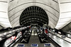 Twin Shack (Peter Murrell) Tags: canarywharf escalator trainstation tube longexposure