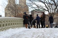 Central Park (shinya) Tags: snow winter bowbridge