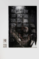 fulcrum (Kaja Utkowska) Tags: painting paint lithography art objects black bw rectangles squares raster