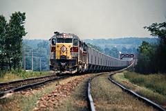 EL, Pavonia, Ohio, 1973 (railphotoart) Tags: wb mohican river stillimage pavonia ohio unitedstates