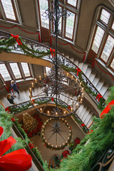 Chandelier in the Biltmore House (pdebree) Tags: sony alpha a6000 sonya6000 sonyimages ilce6000 rokinon 12mm rokinon12mm christmas merrychristmas xmas biltmore biltmoreestate asheville nc ashevillenc north carolina northcarolina chandelier garland bow bows