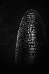 'back' soon (Giles McGarry (formerly kantryla)) Tags: barcelona spain architecture abstract blackandwhite mono modernarchitectture torreagbar