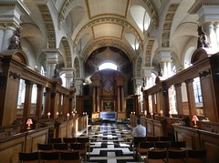 St Bride's Church Interior, London, Feb 2016 (allanmaciver) Tags: st brides church london england capital city fleet street central quiet peace pray still amazing interior special light grand style allanmaciver