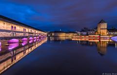 Barrage Vauban, Strasbourg, France (Etienne Ehret) Tags: barrage vauban strasbourg france alsace noir nuit night light lumière bleu blue hour heure uga reflexions reflets nikon d610 1424mm f28