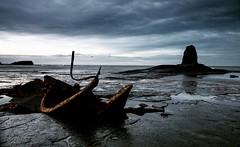 Shipwreck coast (Thirteen44 Photography) Tags: shipwreck wreck seascape sea clouds skyscape rocks cliff beach whitby yorkshire