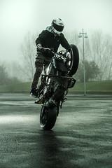 * (Johan Gustavsson) Tags: göteborg gothenburg sverige sweden arendal motorcykel motorcycle stunt friend daniel fog cold januari kallt january honda johangustavsson profotob1