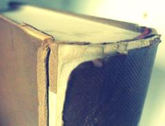 old books-(Macro Mondays: it's a-peeling to me) (Bambola 2012) Tags: macromondays itsapeelingtome bookcover macro makro peel book libro knjiga old vecchio stara paper carta papir appealing korice ljuštiti
