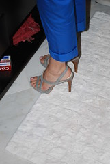 Gray Sandals (Ped-antics) Tags: greystrappy sexy sandals ankles arches amateur feet female foot footfetish femalefeet heels highheels heelfetish highheel toes sexytoes sexyfeet