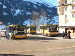 Grindelwald Bus (deltrems) Tags: bus public transport passenger carrying grindelwald swiss switzerland berner window reflections bernese oberland man setra