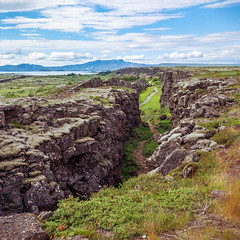 Þingvellir (Daniel Regner) Tags: þingvellir iceland national park europe travel yashica c kodak ektar 100 daniel regner traveling vacation july 2016 valley tectonic plates 6x6 square format emulsion film analog analogue landscape earth beautiful pretty mountains ice icelandic thingvellir pingvellir hiking hike tlr twin lens reflex handheld f35