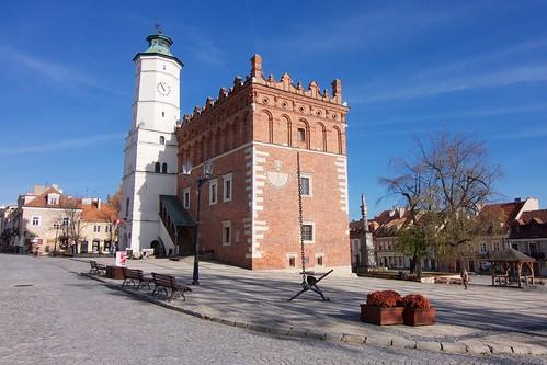 Rynek w Sandomierzu od południowego zachodu