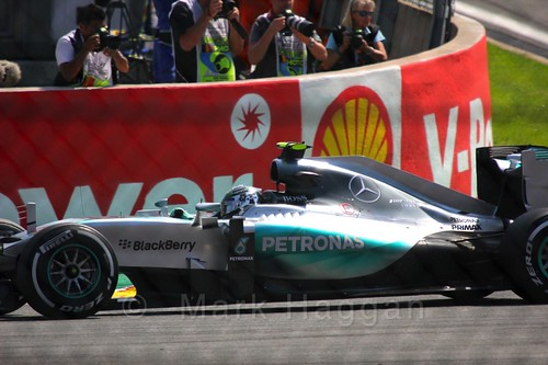 Nico Rosberg in qualifying for the 2015 Belgium Grand Prix