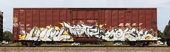Bolr/Molek (quiet-silence) Tags: railroad art train graffiti railcar boxcar graff freight bnsf fr8 molek bolr threatz bnsf761762