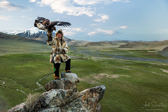 Eagle Hunter, Western Mongolia (Joel Santos - Photography) Tags: mountain golden eagle joel hunting mongolia santos western hunter tradition range kazakh nomads nomadic altai