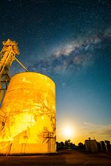 Silo, Moon, Milky Way, Mallala (ian_inverarity) Tags: au australia southaustralia mallala