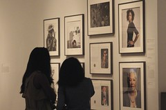 In the Public Eye (Read2me) Tags: she nyc people museum candid interior nypl frombehind ge pree cye thechallengefactory silhouettewomen