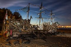 The Black Pearl (Yanny B) Tags: driftwood wirral newbrighton galleon worldfamous theblackpearl wirrals