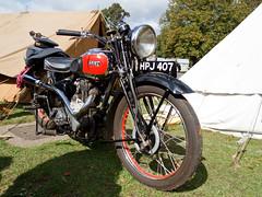 Ariel 350 Red Hunter motorbike (Paul Braham Photography) Tags: ariel bike wwii motorbike duxford airforce reenactors raf imperialwarmuseum iwm waaf wraf