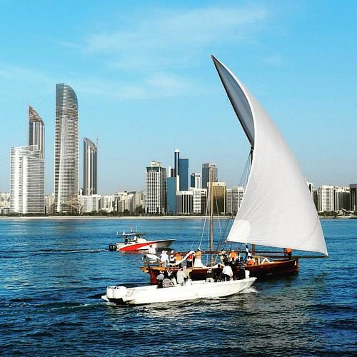 Racing yacht at Abu Dhabi corniche  #AbuDhabi #yacht #yachtlife #lifeofadventure #UAE #Corniche #AbuDhabiCorniche
