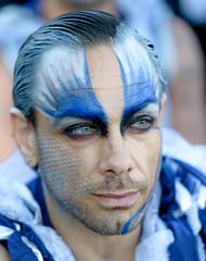 Blue (Xavier Farre) Tags: spain gente esp lleida morosycristianos