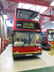 GAL PVL154 - X554EGK - BX BEXLEYHEATH BUS GARAGE - MON 21ST SEPT 2015 (Bexleybus) Tags: bus london ahead volvo garage president go route 401 132 tfl bexleyheath 486 bx goahead plaxton pvl154 x554egk