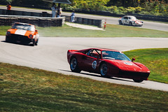 Ferrari 308/288 GTO (Garret Voight) Tags: show old motion blur classic car festival race racecar speed corner vintage outdoors automobile track antique connecticut automotive ferrari racing historic retro exotic chrome vehicle gto autoracing 1980s panning circuit motorsports motorracing sportscar 288 limerock 308