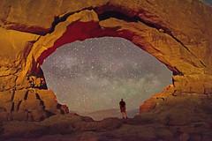 Stargate (ssfor27) Tags: southwest night stars utah desert astrophotography southernutah archesnationalpark milkyway stellarium northwindowarch