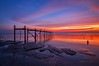 Til the End of Days ... (zakies) Tags: sunset seascape pier asia outdoor perspective forgotten malaysia bluehour johor muar oldjetty seri forground menanti nikond700 zakiesphotography
