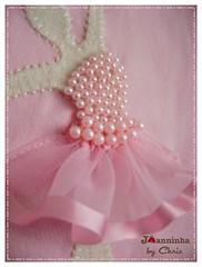 bailarina (Joanninha by Chris) Tags: baby handmade rosa beb bailarina bordado feitoamo aplicaodetecidos decoraoparameninas
