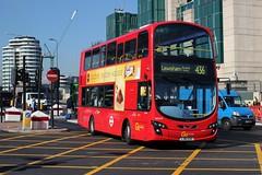 Go Ahead London . London Central . WHV 9 LJ61GXG . Vauxhall Bridge , London . Friday 09th-October-2015 . (AndrewHA's) Tags: bridge 2 bus london public shopping eclipse volvo centre transport central lewisham 9 route paddington passenger wright hybrid gemini vauxhall londonbus tfl 436 whv goahead wrightbus b5lh lj61gxg