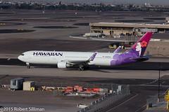 Hawaiian Boeing 767 -Manu O Ku- N581HA-9914 (rob-the-org) Tags: iso100 noflash boeing uncropped f11 250 767 terminal4 phx phoenixaz hawaiianairlines kphx 1400sec 130mm manuoku n581ha skyharborinternational ef70200mmf28lisiiusm parkingp8 topoctober2015