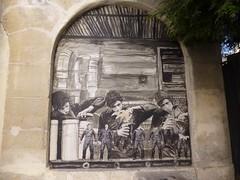 Streetart, Paris, France (balavenise) Tags: street streetart art publicspace calle artist artbrut rue artedecalle levalet artéphèmère