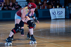 rebels_vs_panic_L3506424 1 (nocklebeast) Tags: ca usa santacruz rollerderby rollergirls zombies vampires skates organicpanic santacruzderbygirls redwoodrebels