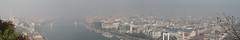 Misty Budapest (Gbor Timr) Tags: city panorama fog haze hungary budapest danube lnchd