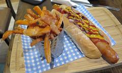 Hot Dog & Sweet Potato Fries (Katie_Russell) Tags: ireland hotdog chips fries northernireland ni portstewart ulster nireland norniron countylondonderry countyderry coderry colondonderry colderry bobberts countylderry bobandberts