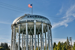 Sacramento Water Tower (DuggieH) Tags: tower water watertower landmarks sacramento usinterstate5 greenhavenpocket