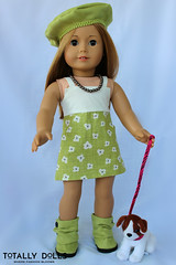 American Girl Clothing - Strolling Through Paris Dress, Beret, and Boots Outfit (totallydolls) Tags: paris girl outfit clothing inch doll dolls boots grace american ag 18 beret parisian