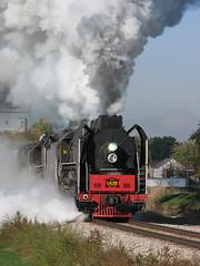 Departing Walcott (GLC 392) Tags: sun water clouds train flood chinese talk railway iowa stack steam relief stop engines ia locomotive interstate corp development rdc walcott qj 2102 iais 6988 7081
