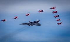 Red Praetorian Guard-1 (tonythomasuk) Tags: airshow vulcan southport redarrows 2016