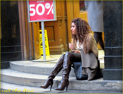 `1568 (roll the dice) Tags: christmas uk portrait england people urban sexy london art classic wet girl westminster fashion sign shopping hair fur funny pretty open natural boots sale snake candid streetphotography stranger regentstreet busy unknown shops heel mad boob westend unaware londonist