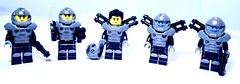 Spacemen (spaghettofil) Tags: soldier lego space series minifig