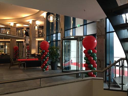 Ballonpilaar Breed Rond Kerstborrel Bar Beton Duurzaam Gebouw Utrecht