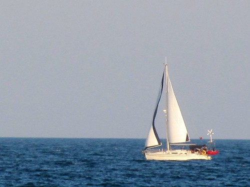 Sailboat on the Black Sea