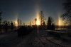 Three suns_2017_01_06_0004 (FarmerJohnn) Tags: aurinko sun threesuns sundocks auringonpilarit pilar pilari sunrise halo frost frostintheair reflection rainbow colors haloilmiö kolmeaurinkoa noon keskipäivä bright sunlight auringonvalo valo light heijastus talvi winter snow lake frozen jää järvi lumi lumihanki blue sininen taivas sky bluesky canon 7d canoneos7d canonef163528liiusm juhanianttonen finland laukaa valkola anttospohja
