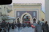 Approaching the Blue Gate (Bab Bou Jeloud), Fez, Morocco (Paul McClure DC) Tags: fez morocco almaghrib fès dec2016 feseljdid people architecture historic