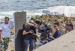 Filming in the Malecón - havana cuba - 01 (Eva Blue) Tags: filming shoot movie onset malecón havana cuba evablue habana